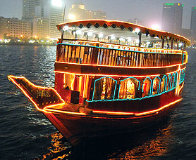 Dubai Dhow Cruise Dinner - Dhow Cruise Dinner in Dubai - Romantic Moonlit Dinner in Dubai - Floating Restaurant in Dubai